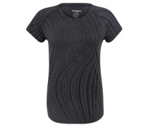 T-Shirt, schnelltrocknend, Raglan-Ärmel, für Damen, Schwarz