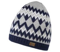 Mütze, Strick, Woll-Anteil, Emblem