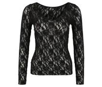 Shirt, florale Spitze, transparent, V-Ausschnitt