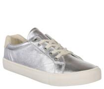 "Sneaker ""Alice"", Metallic-Look, Leder, Silber"