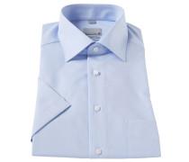 Businesshemd, Regular Fit, Kent-Kragen, strukturiert, Blau