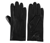 Handschuhe, Leder, Ziernähte, gefüttert