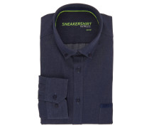 "Businesshemd, ""Sneakershirt"", Slim Fit, Stretch, Blau"