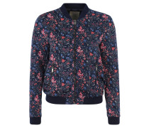 Jacke, Blouson-Stil, Blumen-Print, Blau