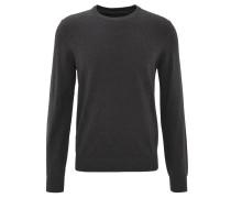 Pullover, Feinstrick, Baumwolle, uni, Grau