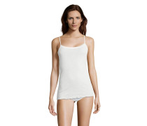 Unterhemd, Woll-Seiden-Gemisch, verstellbare Träger, Weiß