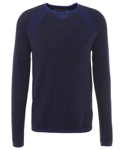 Pullover, Feinstrick, Baumwoll-Mix, Blau