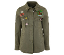 Jacke, Pins, Patches, Print, Tropical Design