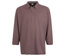 Poloshirt, Langarm, gemustert, Große Größen, Rot