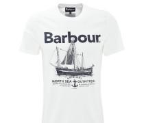 T-Shirt, Print, Baumwolle, Weiß