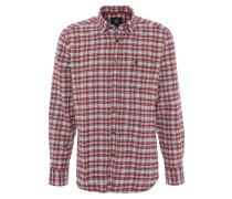 Freizeithemd, Baumwolle, Button-Down-Kragen, Karo, Rot