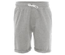 Shorts, Sweat, umgeschlagener Saum, Grau