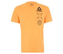 T-Shirt, Print, SpeedWick, Activchill, für Herren, Orange