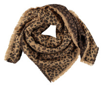 Tuch, Leoparden-Muster, Fransen, weicher Griff