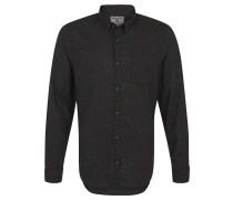 Freizeithemd, Regular Fit, Baumwolle, Allover-Print, Grau