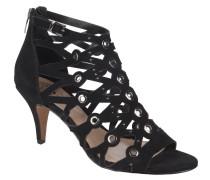 Sandalette, Nieten-Verzierung, Schwarz