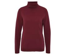 Pullover, meliert, Kaschmir, Rollkragen, Rot