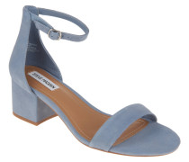 """Sandaletten """"Irenee"""", Glitzer-Besatz, Blockabsatz, Blau"""