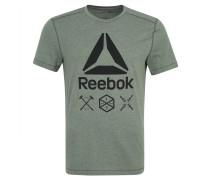 T-Shirt, Kontrast-Print, SPEEDWICK, für Herren, Grün