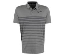 Polo-Shirt, atmungsaktiv, Streifen-Muster, für Herren, Grau