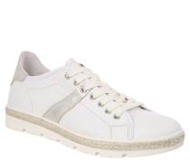 """Sneaker """"LYKKE"""", Leder, Zopf-Applikation, Weiß"""