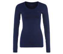 PRO Langarmshirt, atmungsaktiv, Mesh-Rücken, Blau