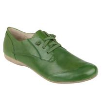 Slipper, Glattleder, Elastiksenkel, Grün