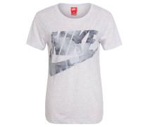 "T-Shirt ""Glacier"", Logo-Print, meliert, für Damen, Grau"