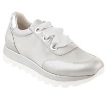 Sneaker, Metallic, Satin-Schnürsenkel, Plateausohle
