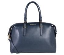 "Handtasche ""Flo"", Leder, Saffiano-Struktur, Blau"