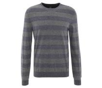 Pullover, gestreift, meliert, formgebende Rippbündchen, Baumwolle, Blau
