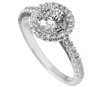 Ring, Sterling  925, -Zirkonia, zus. 1,31 ct