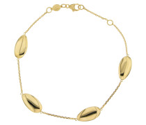 Armband mit ovalen Gelbgold 375