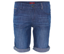 Bermuda-Shorts, Jeans, Regular Fit, Blau