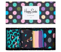 """Socken """"Stripe"""", Baumwoll-Mix, 4er-Pack, Geschenk-Box"""