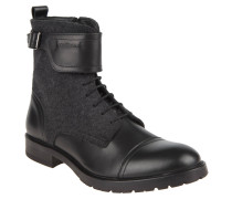 "Stiefel ""New Browne"", Material-Mix, Schnalle"