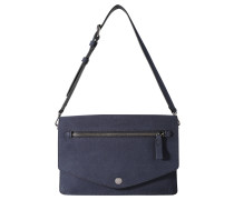 "Handtasche ""Tori"", Lederimitat, große Klappe, Blau"
