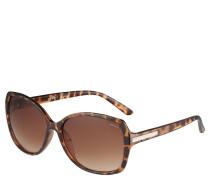 Sonnenbrille, Schmetterlingsform, Tortoise, Strass
