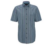 Hemd, Kurzarm, Brusttasche, Streifen, Grün