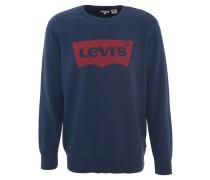 Sweatshirt, Logo-Print, angeraute Innenseite, Blau