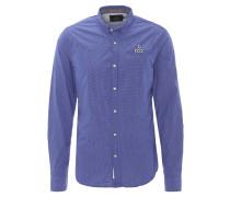 Freizeithemd, Regular Fit, fein gemustert, Brusttasche, Blau