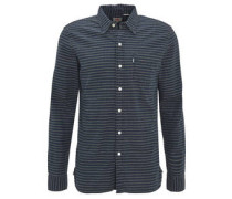 Hemd, Langarm, gestreift, Button-Down-Kragen