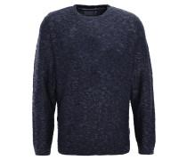 Pullover, Strick, meliert, Blau