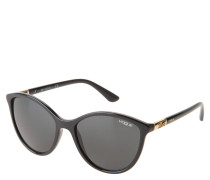 "Sonnenbrille ""VO 5165-S"", Cat-Eye-Look, goldene Elemente"