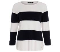 """Pullover """"Aileen"""", Streifen, Dreiviertelarm, Weiß"""