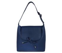 """Handtasche """"Tilda"""", Schleife, Lederimitat, Blau"""