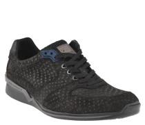 Sneaker, Wildleder, gepunktet, herausnehmbare Sohle, Grau