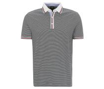 Poloshirt, Baumwolle, Streifen, Blau