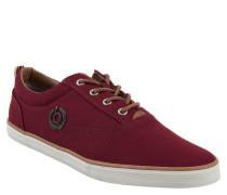 Sneaker, Textil, Logo-Emblem, flexible Laufsohle, Canvas, Rot