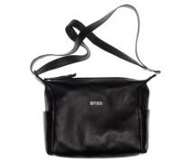 Nola 3, black, ladies' handbag grained, Schwarz